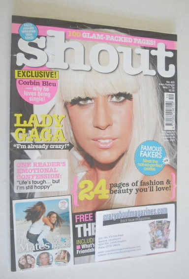 <!--2009-05-07-->Shout magazine - Lady Gaga cover (7-20 May 2009)