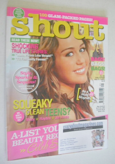 <!--2009-05-21-->Shout magazine - Miley Cyrus cover (21 May - 3 June 2009)