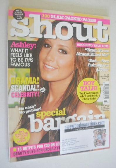 <!--2009-06-04-->Shout magazine - Ashley Tisdale cover (4-17 June 2009)