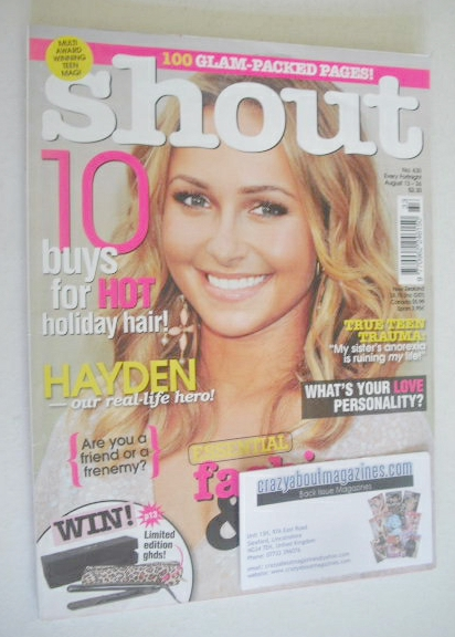 <!--2009-08-13-->Shout magazine - Hayden Panettiere cover (13-26 August 200