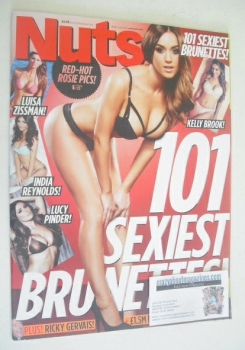 Nuts magazine - 101 Sexiest Brunettes cover (28 March - 3 April 2014)