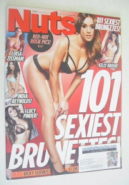 <!--2014-03-28-->Nuts magazine - 101 Sexiest Brunettes cover (28 March - 3