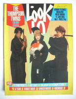 <!--1985-01-12-->Look In magazine - The Thompson Twins cover (12 January 1985)