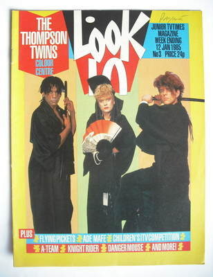 <!--1985-01-12-->Look In magazine - The Thompson Twins cover (12 January 19