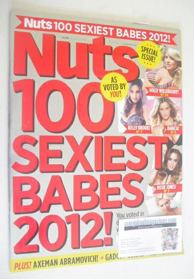 <!--2012-11-30-->Nuts magazine - 100 Sexiest Babes 2012 cover (30 November