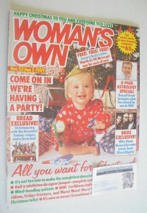 <!--1988-12-27-->Woman's Own magazine - 27 December 1988 - 3 January 1989