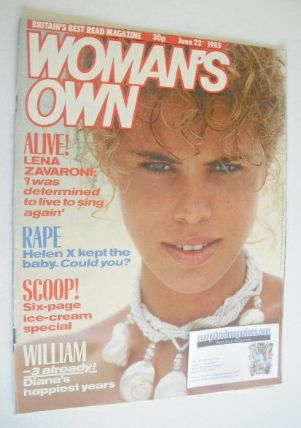 <!--1985-06-22-->Woman's Own magazine - 22 June 1985