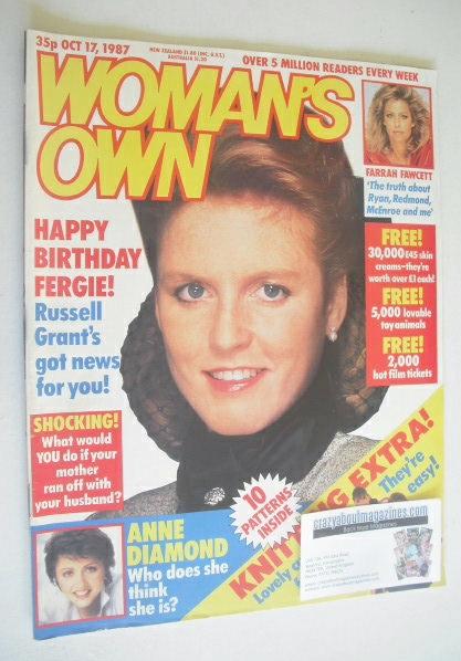 <!--1987-10-17-->Woman's Own magazine - 17 October 1987 - Sarah Ferguson co