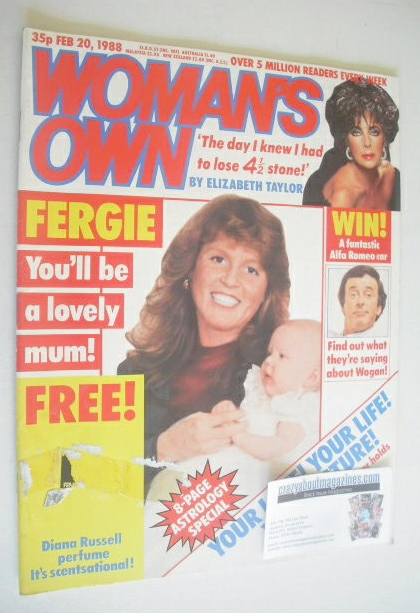 <!--1988-02-20-->Woman's Own magazine - 20 February 1988 - Sarah Ferguson c