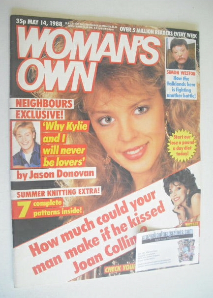 <!--1988-05-14-->Woman's Own magazine - 14 May 1988 - Kylie Minogue cover