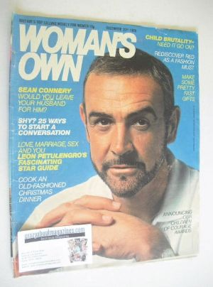 <!--1980-12-20-->Woman's Own magazine - 20 December 1980 - Sean Connery cov