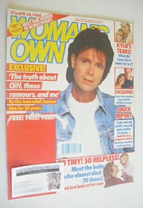 <!--1989-04-24-->Woman's Own magazine - 24 April 1989 - Cliff Richard cover
