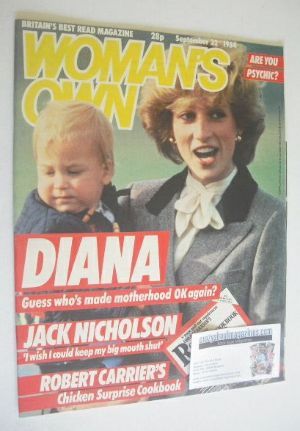 <!--1984-09-22-->Woman's Own magazine - 22 September 1984 - Princess Diana