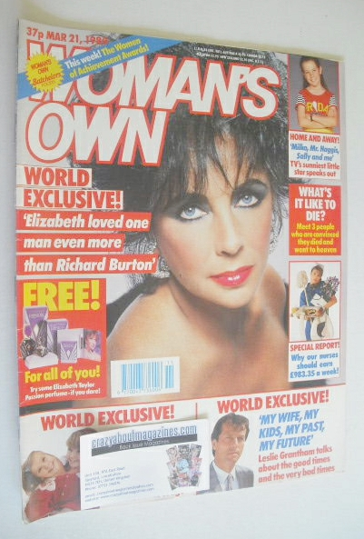 <!--1989-03-21-->Woman's Own magazine - 21 March 1989 - Elizabeth Taylor co