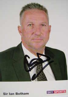 Sir Ian Botham autograph