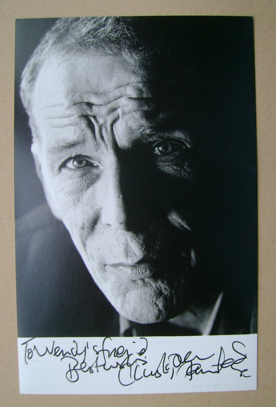 Christopher Fairbank autograph (hand-signed photo, dedicated)