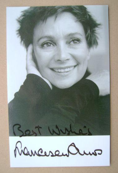 Francesca Annis autograph