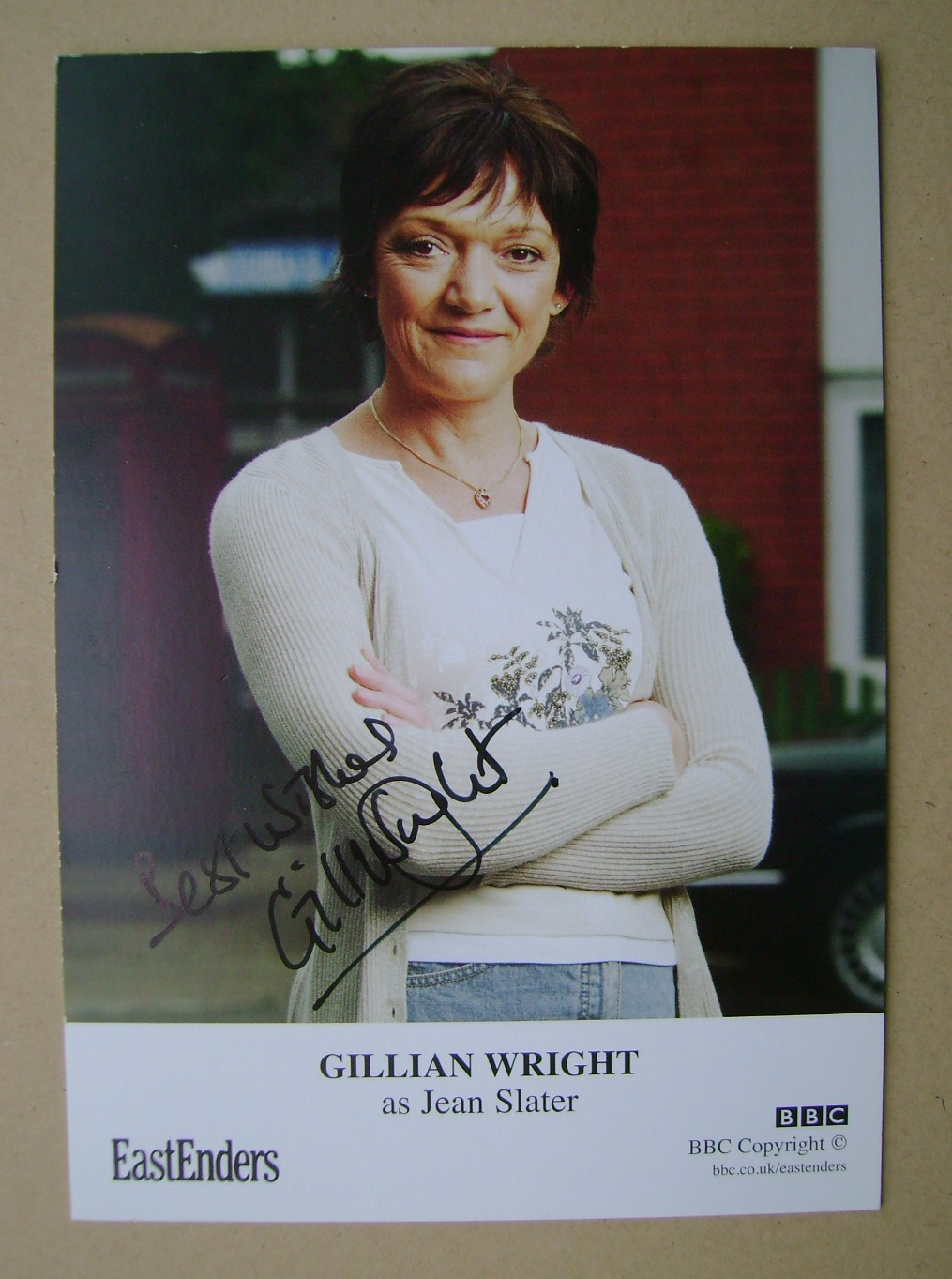 Gillian Wright autograph (EastEnders actor)