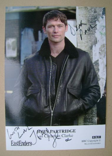 John Partridge autographed photo (ex-EastEnders actor)