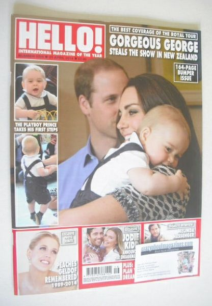 <!--2014-04-21-->Hello! magazine - Prince William, Kate and Prince George c