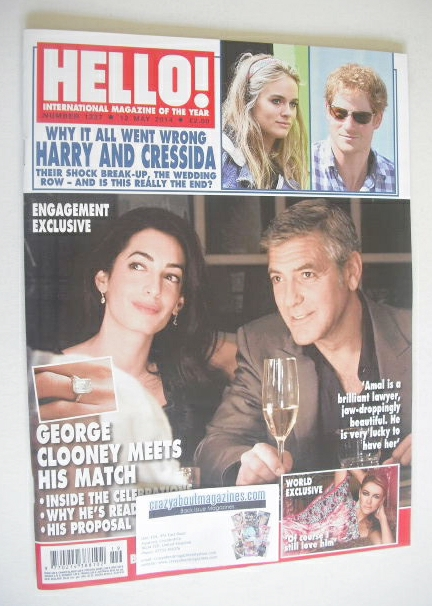 <!--2014-05-12-->Hello! magazine - George Clooney and Amal Alamuddin cover