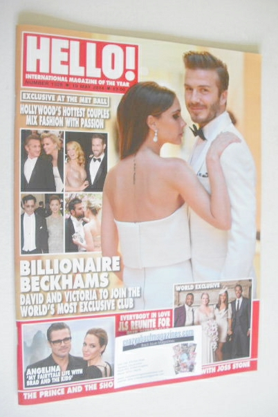 <!--2014-05-19-->Hello! magazine - David and Victoria Beckham cover (19 May
