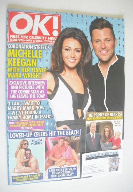 <!--2014-05-06-->OK! magazine - Michelle Keegan and Mark Wright cover (6 Ma
