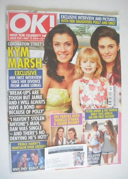 <!--2014-05-13-->OK! magazine - Kym Marsh cover (13 May 2014 - Issue 929)