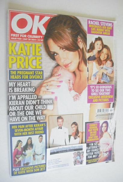 <!--2014-05-20-->OK! magazine - Katie Price cover (20 May 2014 - Issue 930)