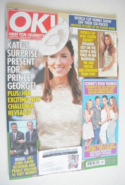 <!--2014-06-24-->OK! magazine - The Duchess of Cambridge cover (24 June 201