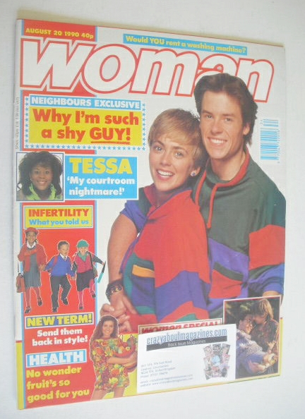<!--1990-08-20-->Woman magazine - Guy Pearce and Annie Jones cover (20 Augu
