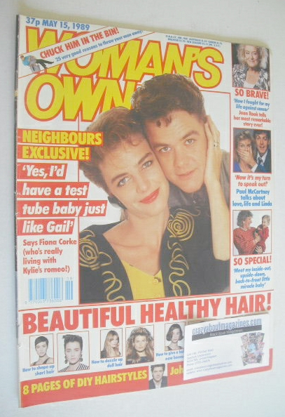 <!--1989-05-15-->Woman magazine - Fiona Corke and Stefan Dennis cover (15 M