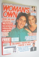 <!--1989-03-07-->Woman's Own magazine - 7 March 1989 - Alex Papps and Justine Clarke cover