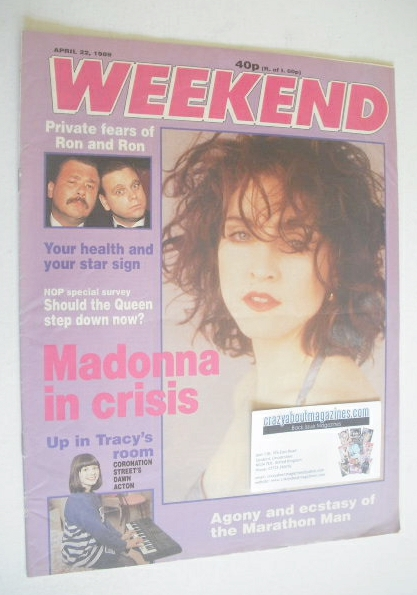 <!--1989-04-22-->Weekend magazine - Madonna cover (22 April 1989)