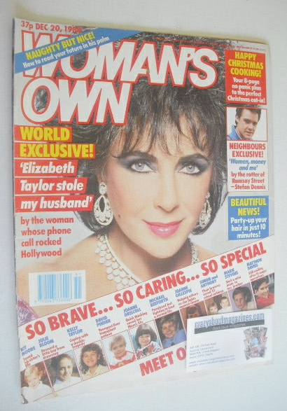<!--1988-12-20-->Woman's Own magazine - 20 December 1988 - Elizabeth Taylor