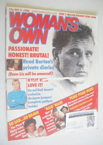<!--1988-10-04-->Woman's Own magazine - 4 October 1988 - Richard Burton cov