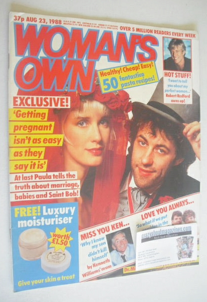 <!--1988-08-23-->Woman's Own magazine - 23 August 1988 - Paula Yates and Bo