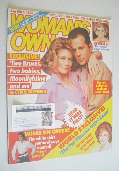 <!--1988-02-06-->Woman's Own magazine - 6 February 1988 - Bruce Willis and