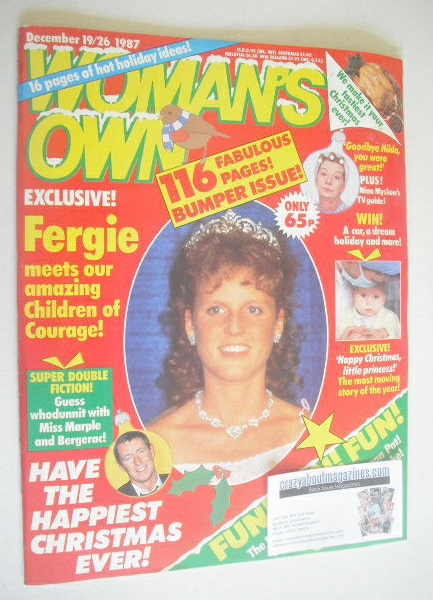 <!--1987-12-19-->Woman's Own magazine - 19-26 December 1987 - Sarah Ferguso