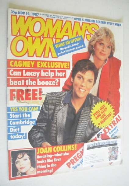 <!--1987-11-14-->Woman's Own magazine - 14 November 1987 - Sharon Gless and