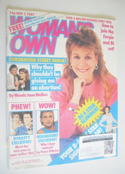 <!--1987-11-07-->Woman's Own magazine - 7 November 1987