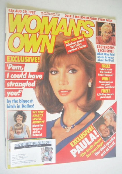 <!--1987-08-29-->Woman's Own magazine - 29 August 1987 - Victoria Principal