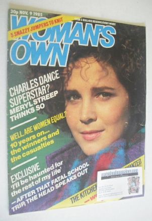 <!--1985-11-09-->Woman's Own magazine - 9 November 1985