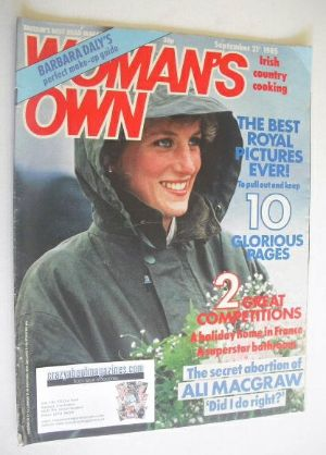<!--1985-09-21-->Woman's Own magazine - 21 September 1985 - Princess Diana