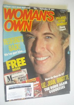 <!--1984-09-15-->Woman's Own magazine - 15 September 1984 - Robert Redford