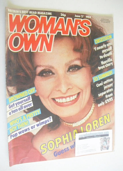 <!--1984-06-02-->Woman's Own magazine - 2 June 1984 - Sophia Loren cover