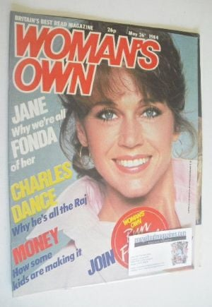 <!--1984-05-26-->Woman's Own magazine - 26 May 1984 - Jane Fonda cover