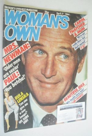 <!--1984-04-07-->Woman's Own magazine - 7 April 1984 - Paul Newman cover