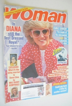 Woman magazine - Princess Diana cover (15 August 1987)
