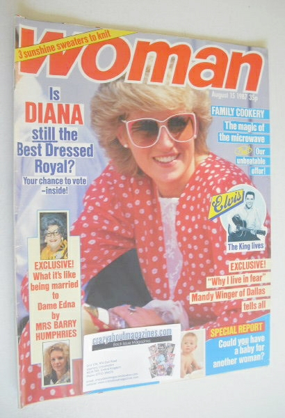 <!--1987-08-15-->Woman magazine - Princess Diana cover (15 August 1987)